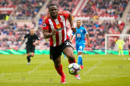 Sunderland forward Victor Anichebe (28) in action  during the Premier League match between Sunderland and Bournemouth at the Stadium Of Light, Sunderland