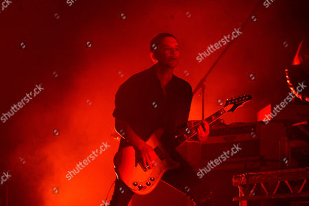 Belgium singer and guitarist Brian Molko, leader of British rock band Placebo, performs on stage at Sports Palace in Madrid, 29 April 2017.