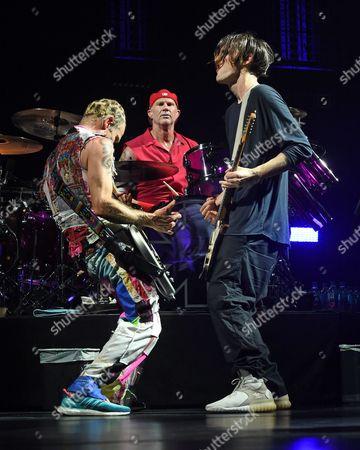 Flea, Chad Smith and Josh Klinghoffer