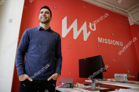 Founder Adam Braun poses at MissionU in San Francisco. MissionU, which began accepting its first applications last month, offers a one-year program in data analytics and business intelligence with an upfront tuition of $0. As part of a profit-sharing agreement, MissionU students will be giving back 15 percent of their salary for three years after graduation, given that they make at least $50,000 per year