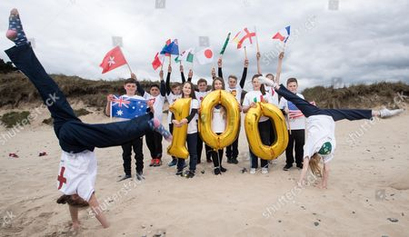 REPRO FREE***PRESS RELEASE NO REPRODUCTION FEE***. 100 Days Until The Women?s Rugby World Cup, Brittas Beach, Co. Wicklow 30/4/2017. 12 players from Wicklow Rugby Club were on hand to welcome the 12 competing teams taking part in this year's Women's Rugby World Cup. The tournament starts on 9th August in UCD before travelling to Belfast. . Limited additional tickets for sold out games have been released via Ticketmaster. Pictured today (L-R) Amelie Birrell (England), Eamonn Goddard (Australia), Arun Ladwa (Hong Kong), Thomas Quinn (Canada), Mia Gillanders (Wales), Dan Seymour (Japan), Maya Gaynor (New Zealand), Adam Ralph (Spain), Jessica Griffey (Italy), Ava-Paris Neiland (France), Conor Mitchell (USA) and Mya Neiland (Ireland)