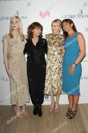 Elle Fanning, Susan Sarandon, Naomi Watts, Gaby Dellall