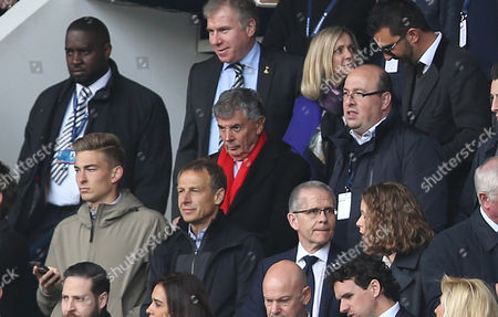 David Dein watches Tottenham Hotspurs v Arsenal from the stands at White Hart Lane during the North London Derby match in the Premier League between Tottenham Hotspurs and Arsenal.