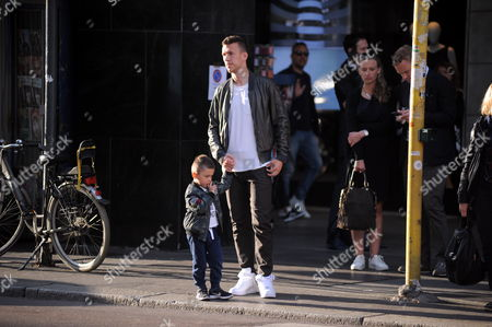 Editorial photo of Leonardo Ivan Perisic out and about, Milan, Italy - 28 Apr 2017