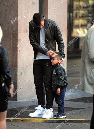 Stock Image of Leonardo Ivan Perisic and son