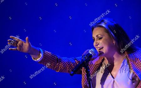 Spanish cantaora (flamenco singer) Nina Pastori performs on stage at Alfreo Kraus Auditorium in Las Palmas de Gran Canaria, Canary Islands, 30 April 2017.