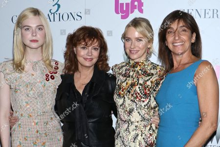 Elle Fanning, Susan Sarandon, Naomi Watts and Gaby Dellall, director