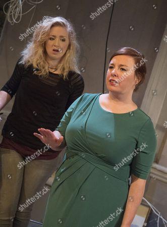 Stock Image of Katrina McKeever as Teeni, Lynsey-Anne Moffat as Sandra