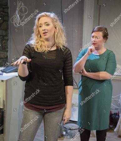 Stock Photo of Katrina McKeever as Teeni, Lynsey-Anne Moffat as Sandra