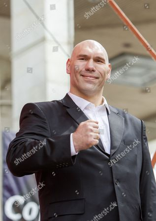 Nikolai Valuev, Russian former professional boxer, gestures at a rally on the occasion of May Day in front of National Opera and Ballet Theatre of Moldova in Chisinau, Moldova, 01 May 2017. Labor Day or May Day is observed all over the world on the first day of May to celebrate the economic and social achievements of workers and fight for labourers rights.