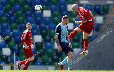 Editorial picture of IFA Junior Cup Final, Windsor Park, Belfast  - 01 May 2017