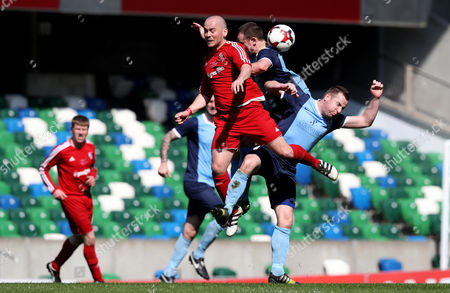 Editorial image of IFA Junior Cup Final, Windsor Park, Belfast  - 01 May 2017