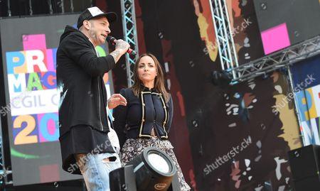 Camila Raznovich and Clementino