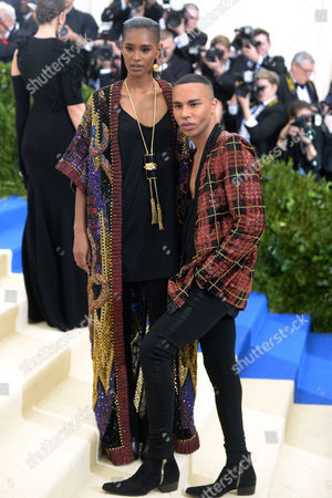 Stock Image of Ysaunny Brito and Olivier Rousteing