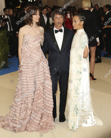 Freja Beha Erichsen (L) Pierpaolo Piccioli (C) and Ruth Negga (R) arrive on the red carpet for the Metropolitan Museum of Art Costume Institute's benefit celebrating the opening of the exhibit 'Rei Kawakubo/Comme des GarÂ?cons: Art of the In-Between' in New York, New York, USA, 01 May 2017. The exhibit will be on view at the Metropolitan Museum of Art's Costume Institute from 04 May to 04 September 2017.