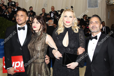 Isaiah Silva, Frances Bean Cobain, Courtney Love and Marc Jacobs