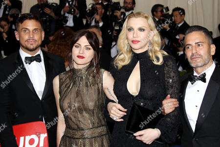 Stock Photo of Isaiah Silva, Frances Bean Cobain, Courtney Love and Marc Jacobs