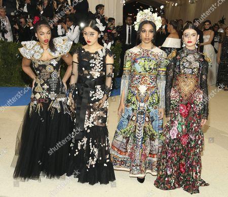 Lori Harvey, Natasha Lau, Corinne Bishop and Sonia Ben Ammar