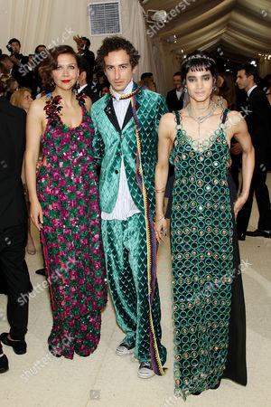 Maggie Gyllenhaal, Francesco Risso and Sofia Boutella