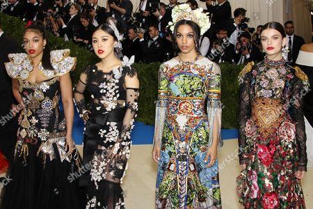 Corinne Bishop Natasha Lau, Lori Harvey and Sonia Ben Ammar