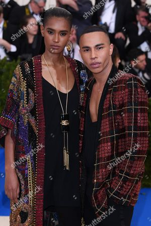 Ysaunny Brito and Olivier Rousteing