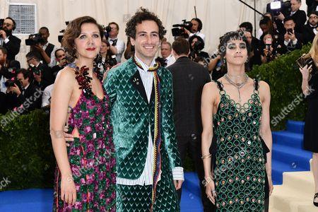 Stock Photo of Maggie Gyllenhaal, Francesco Risso and Sofia Boutella