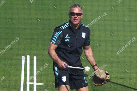 Surrey Director of Cricket Alec Stewart during Surrey vs Essex Eagles, Royal London One-Day Cup Cricket at the Kia Oval on 2nd May 2017