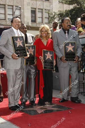 The Miracles, Smokey Robinson, Pete Moore, Claudette Robinson and Bobby Rogers