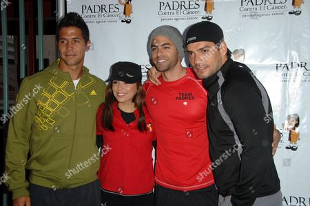 Fernando Verdasco and Eva Longoria Parker with Adrian Bellani and Christian De La Fuente