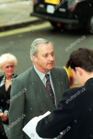 Neil Hamilton Former M.p. Arriving At St. Johns Church Smith Square This Morning For A Memorial Service For The Late Sir James Goldsmith.