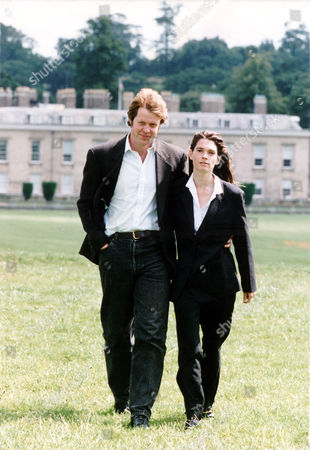 Earl And Countess Spencer Nee Victoria Lockwood Outside Althorp House In Northamptonshire. Divorced December 1997.