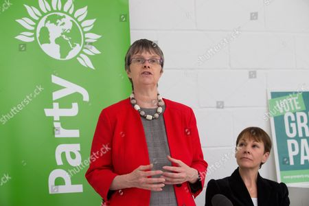 Caroline Lucas announces new Brexit policy. Green Party Bristol West candidate, Molly Scott Cato, speaks to supporters and activists at an art studio in Hackney, London, after Green Party Joint Leader, Caroline Lucas, announced the new Green Party Brexit policy.