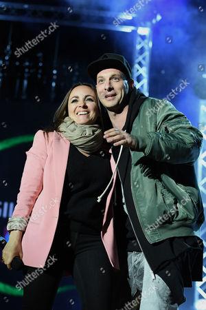 Stock Photo of Camila Raznovich and Clementino