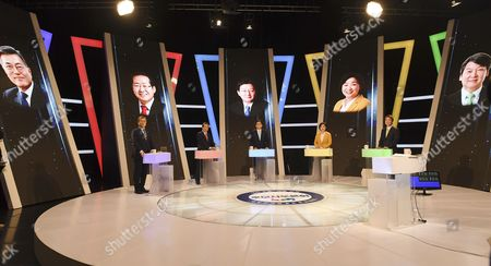 Moon Jae-in, Hong Joon-pyo, Yoo Seung-min, Sim Sang-jung and Ahn Cheol-soo