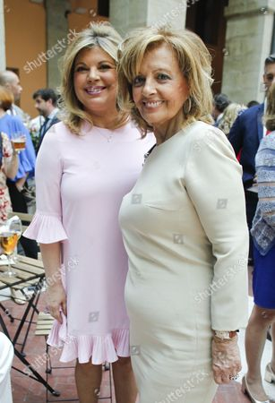 Spanish journalist Maria Teresa Campos (R) and her daughter Terelu