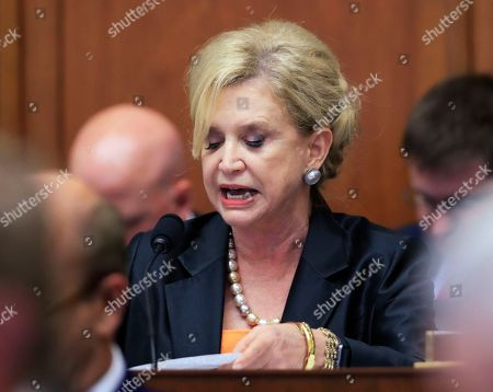 Sean Spicer, Carolyn Maloney House Financial Services Committee member Rep. Carolyn Maloney, D-N.Y. speaks on Capitol Hill in Washington, during the committee's hearing on overhauling the nation's financial rules