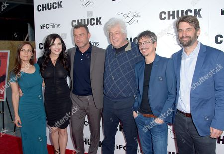 Stock Photo of Lati Grobman, Christa Campbell, Liev Schreiber, Avi Lerner, Philippe Falardeau and Andrea Iervolino