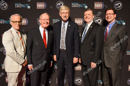 Lamar Alexander, John Hoffman, Francis Collins, Tom Cole, David Leavy From left, Discovery's EVP Documentaries John Hoffman, Senator Lamar Alexander, R-Tenn., NIH Director Francis Collins, Rep. Tom Cole, R-Okla., and Discovery Communications CCO David Leavy arrive at the First in Human Screening on Tuesday, May, 2, 2017 in Washington