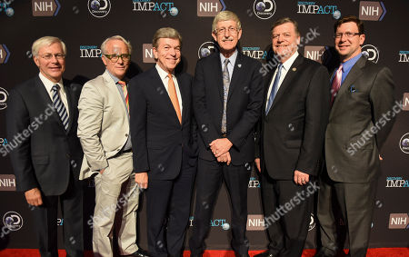 S. Decker Anstrom, John Hoffman, Roy Blunt, Francis Collins, Tom Cole, David Leavy From left, S. Decker Anstrom, Discovery Communications Board of Directors; Discovery's EVP Documentaries John Hoffman; Senator Roy Blunt, R-Mo.; NIH Director Francis Collins; Rep. Tom Cole, R-Okla.; and Discovery Communications CCO David Leavy are photographed at the First in Human Screening on Tuesday, May, 2, 2017 in Washington