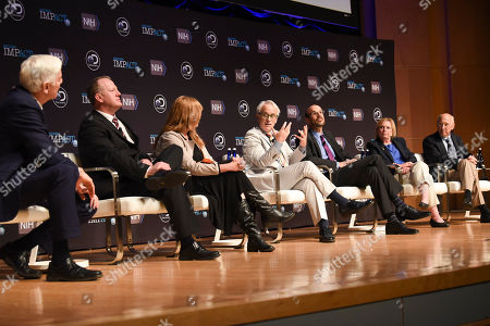 Stock Photo of Jonathan LaPook, John Hoffman, Robert Cooper, Carla Cooper, Terry Fry, Linda Taylor, Steven Rosenberg Discovery's EVP Documentaries John Hoffman, center, takes part in a panel discussion following the screening of the series First in Human on Tuesday, May, 2, 2017 in Washington. The panelist are, from left, CBS' Jonathan LaPook, Robert Cooper, Carla Cooper, Hoffman, Dr. Terry Fry, Linda Taylor, and Dr. Steven Rosenberg