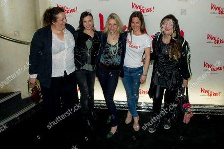Stock Photo of Isabelle de Hertogh, Amel Annoga, Florence Thomassin, Emmanuelle Boidron and Angelique Litzenburger