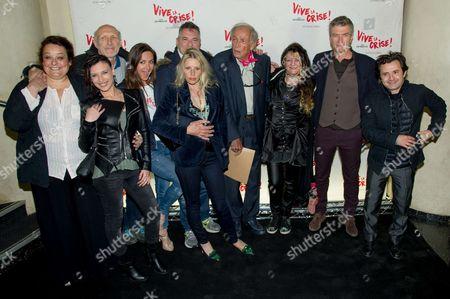 Stock Image of Isabelle de Hertogh, Rufus, Emmanuelle Boidron, Jean-Marie Bigard, Florence Thomassin, Angelique Litzenburger, Philippe Caroit and Franck Molinaro