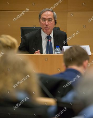 Editorial picture of Hearing of former Minister of the French Republic Claude Gueant, Brussels, Belgium - 03 May 2017