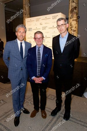 Stock Picture of Julien Marchenoir, Guy Slater OBE MVO and Edmund De Waal OBE