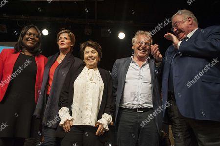 Laetitia Avia, Daniel Cohn-Bendit, Corinne Lepage, Daniel Vaillant, Frederique Dumas
