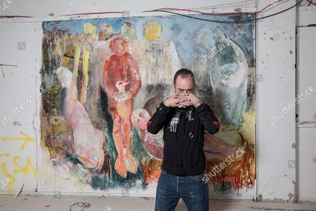 Editorial image of Artist Douglas Gordon photoshoot, Glasgow School of Art, Scotland - 03 May 2017