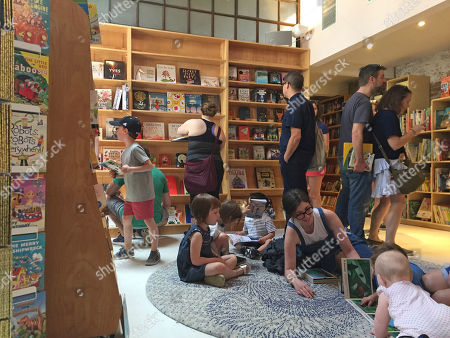 This photo shows the children's area of the new Books Are Magic bookstore in Brooklyn, New York, on the day it opened. The store is owned by novelist Emma Straub and her husband, who decided to open the store after another beloved neighborhood bookstore closed. Straub is one of a number of authors who own bookstores around the country, including Ann Patchett and Jeff Kinney