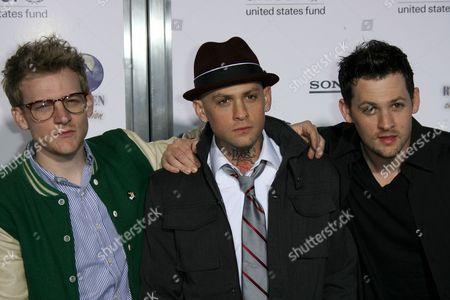 Stock Photo of Josh Madden, Benji Madden and Joel Madden