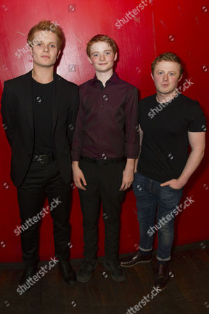 Stock Image of Tom Glynn-Carney (Shane Corcoran), Michael McCarthy (Declan Corcoran) and Conor MacNeill (Diarmaid Corcoran)