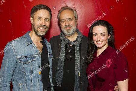 Paddy Considine (Quinn Carney), Sam Mendes (Director) and Laura Donnelly (Caitlin Carney)